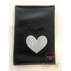 Eh Gia Passport Black & Silver