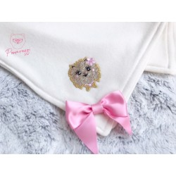 Luxury Dogs Pom Blanket White