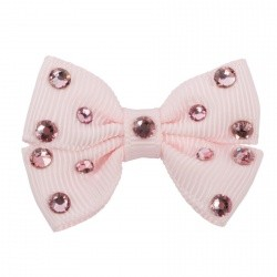 Hairclip Sparkling Bow Rose