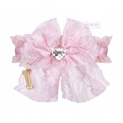 Lace Bow Collar Pink