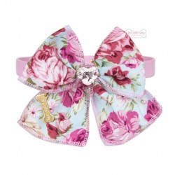 Roses Bow Pink Collar